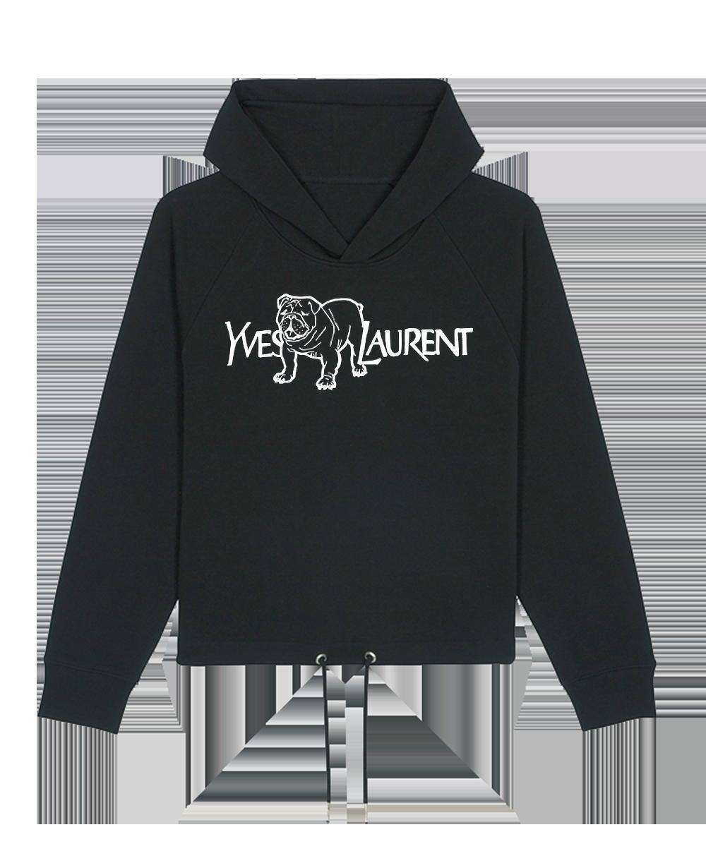 Hoodie Femme Noir Yves Chien Laurent