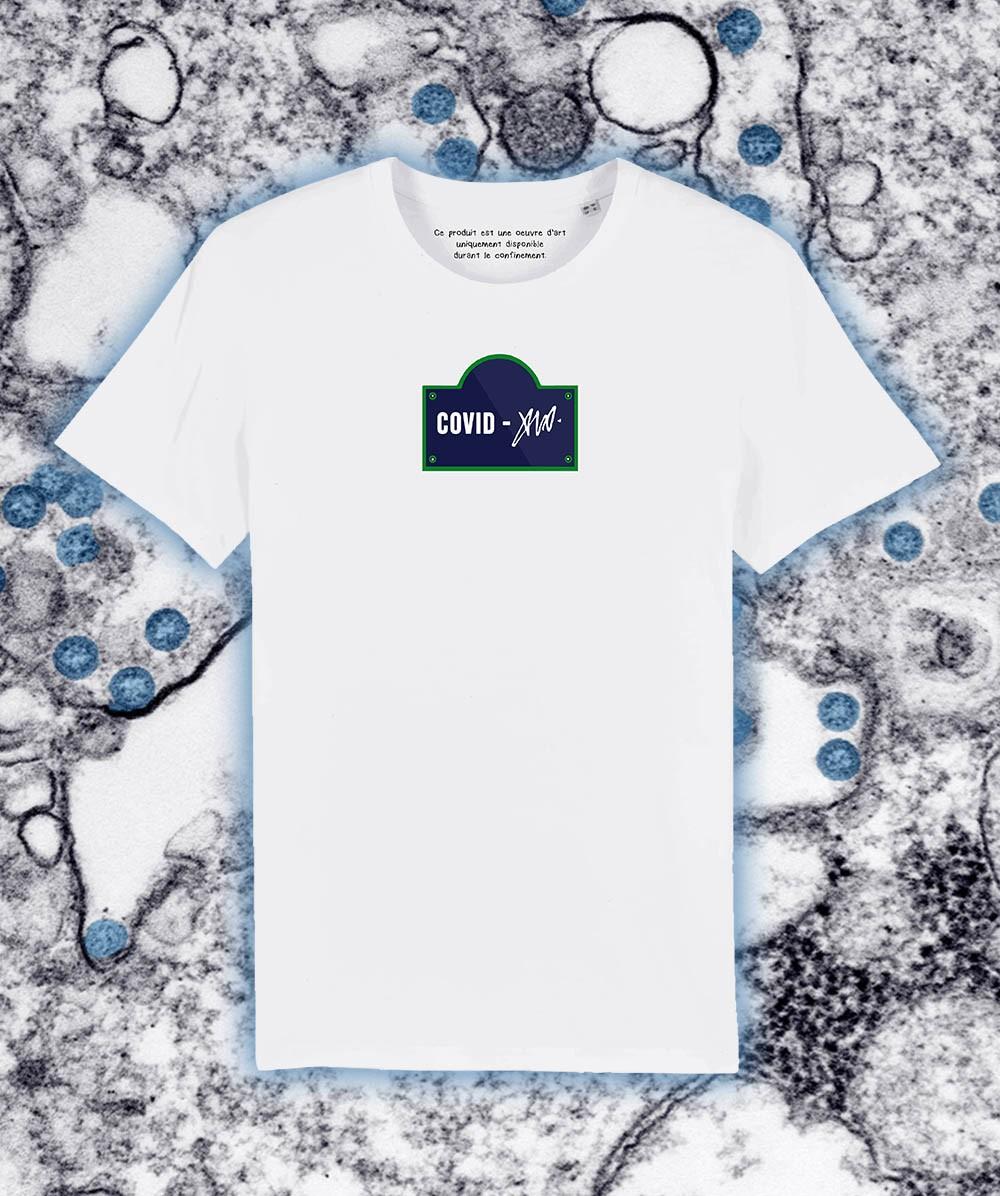 """Tshirt Blanc """"Covid 19"""""""