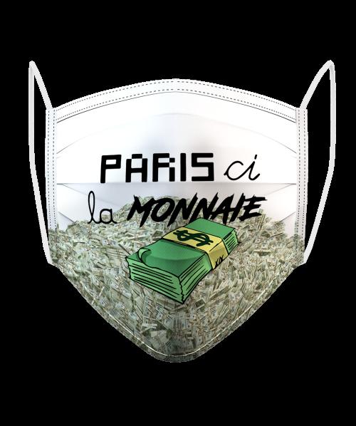 Masque Logo Paris Ci la Monnaie