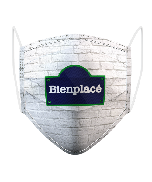 Masque Logo Brique Blanche
