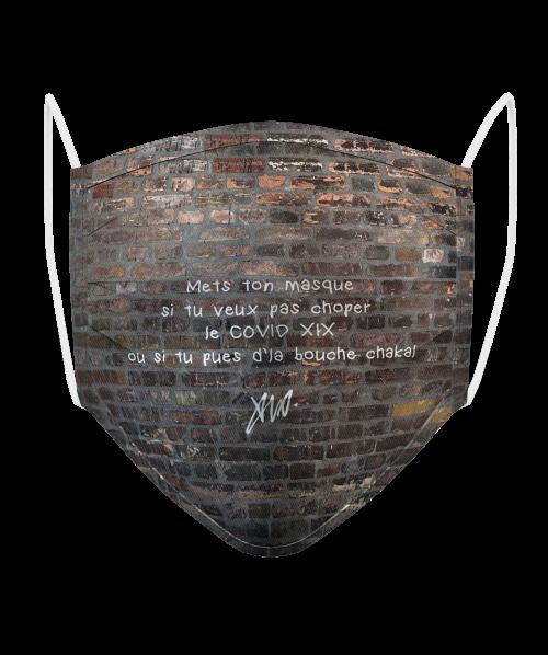 Masque Logo Brique Marron