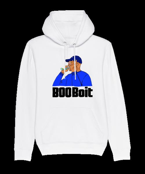 Sweat Capuche Blanc BooBoit