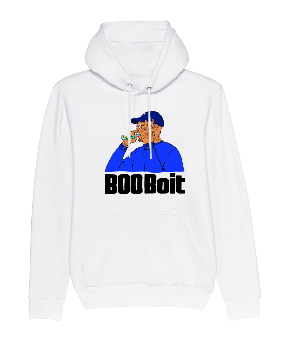 Sweat Capuche Blanc BooBois